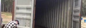 Seecontainer zur Werkstatt umbauen